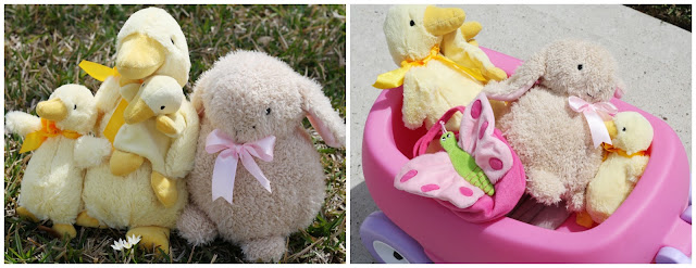 duck, bunny, butterfly