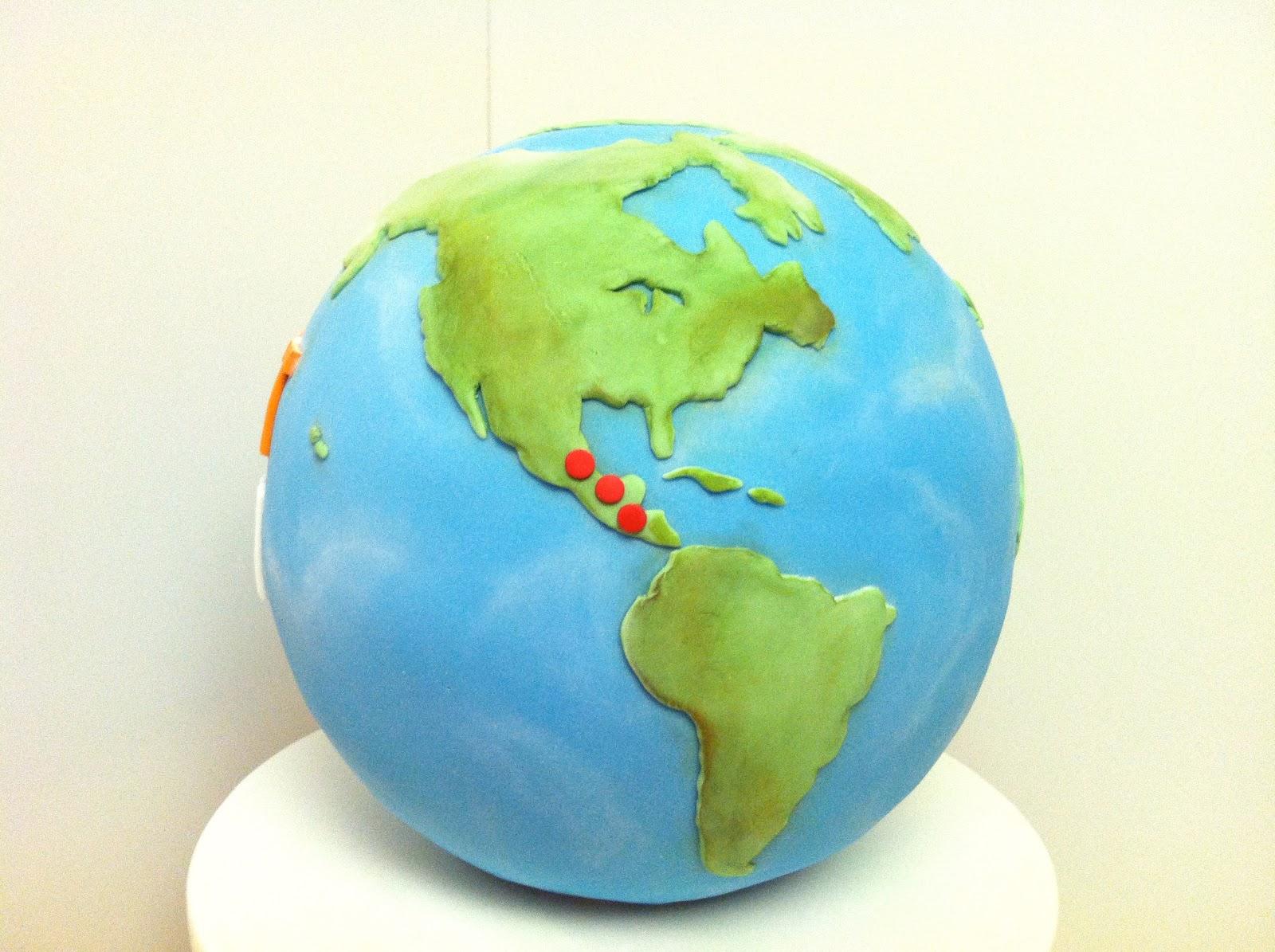 Eat Cake Be Merry Globe Cake