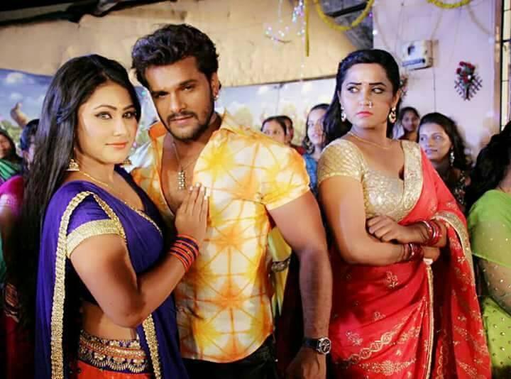 Kajal Raghwani, Priyanka Pandit and Khesari Lal Yadav Shoot ON Set Main Sehra Bandh Ke Aaunga pics