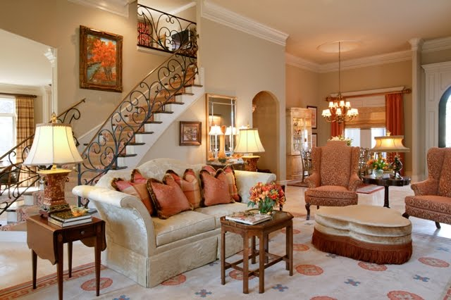 World Architecture: Traditional Home Living Rooms ...