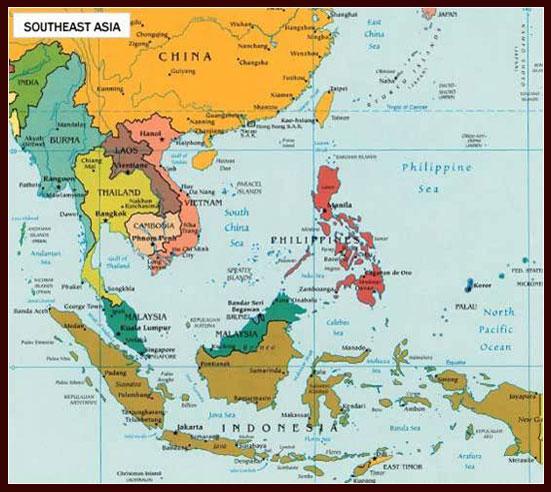 Letak dan Posisi Geografis Negara-negara ASEAN