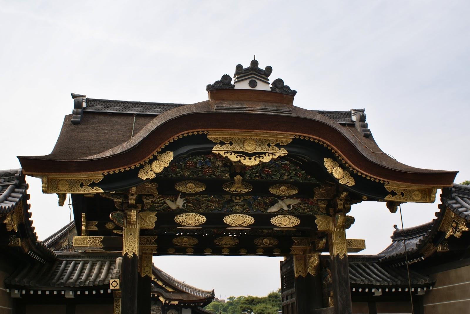 kara-mon gate nijo-jo castle kyoto japan asia