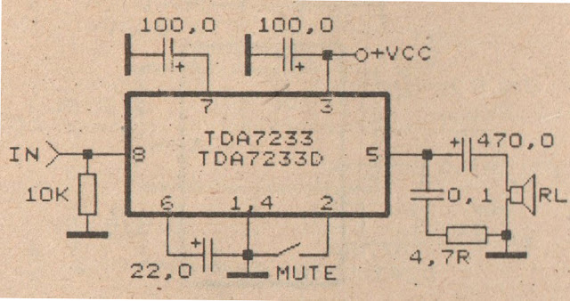 Very Low Power Amplifier circuit