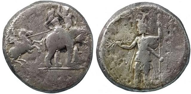 Medallón de Poro - ejemplar de la American Numismatic Society