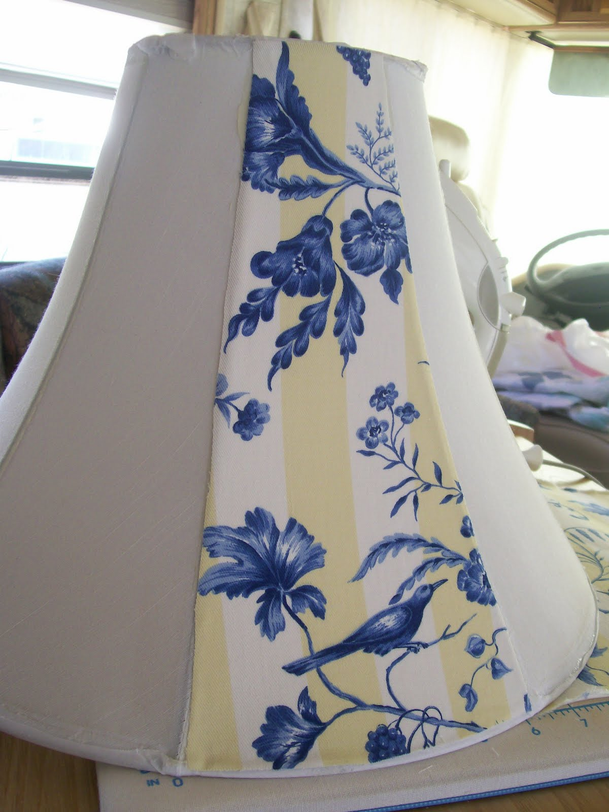 Diy Lampshade Cover My Sew Sweet Studio So Easy No Sew Almost Lampshade