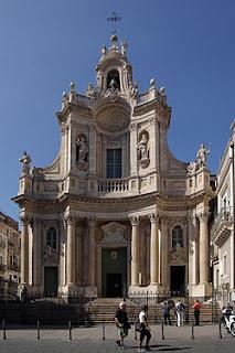 Stefano Ittar's facade of the Basilica  della Collegiata in Catania