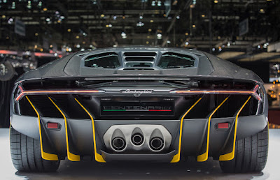 2017 Lamborghini Centenario Roadster back look