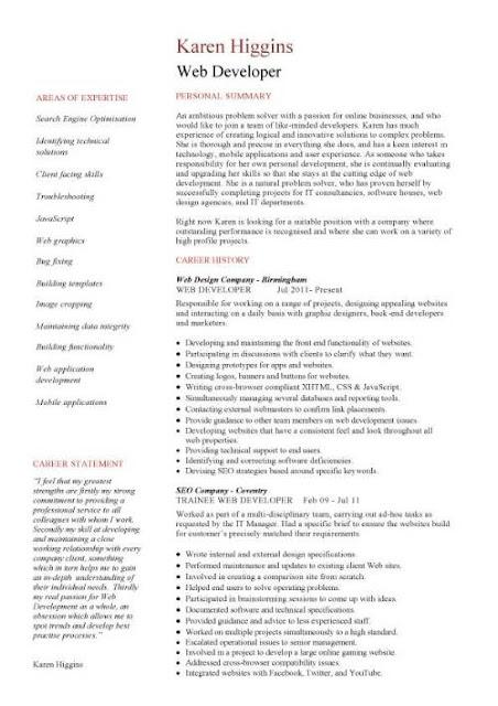 Net Design Resume Pattern 3