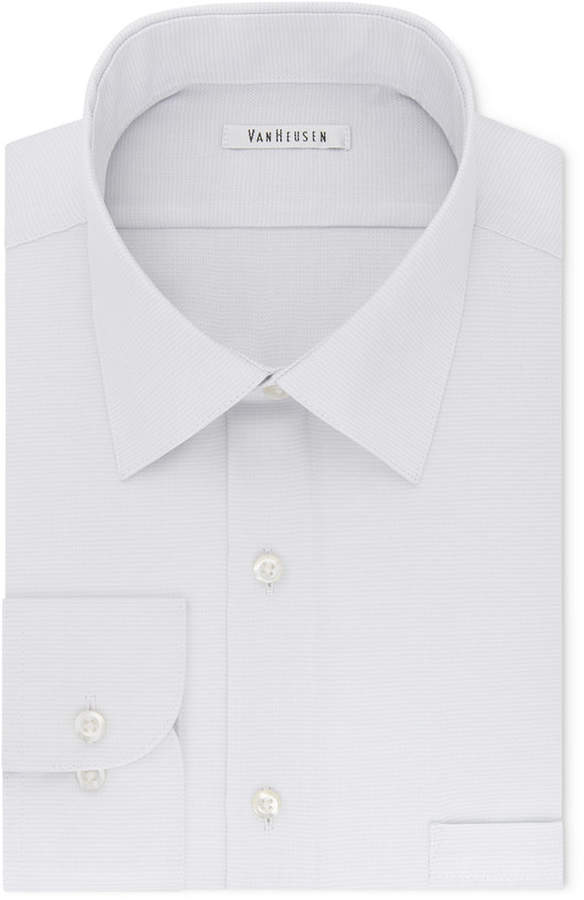 Van Heusen Men's Classic-Fit Micro Houndstooth Dress Shirt