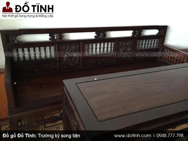 Bộ trường kỷ song tiện gỗ gụ mật 19tr800