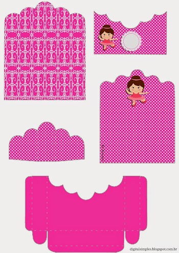 Ballet: Free Printable Candy Packages Support.