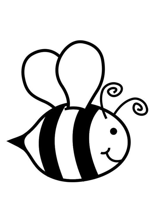 Hình tô màu con ong đáng yêu