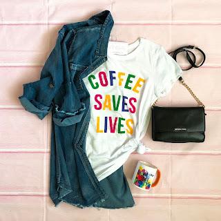 coffee saves lives graphic tee