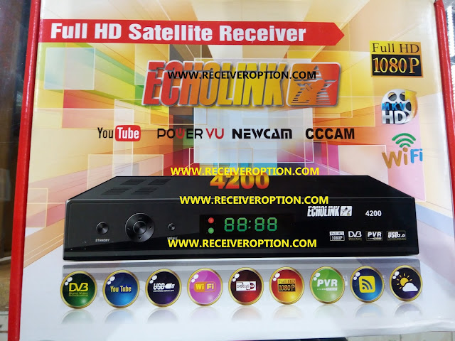 ECHOLINK 4200 HD RECEIVER POWERVU KEY NEW SOFTWARE BY USB