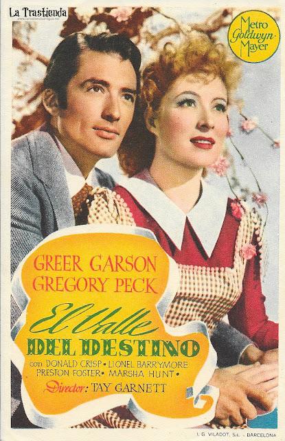 El Valle del Destino - Programa de Cine - Gregory Peck - Greer Garson