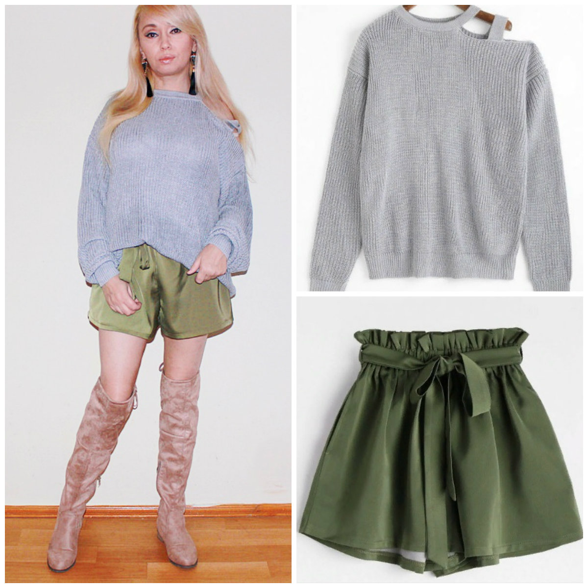 ZAFUL Haul. Мой онлайн-шопинг - трикотажное платье, вязаный свитер и шорты с завышенной талией / обзор, отзывы, фото