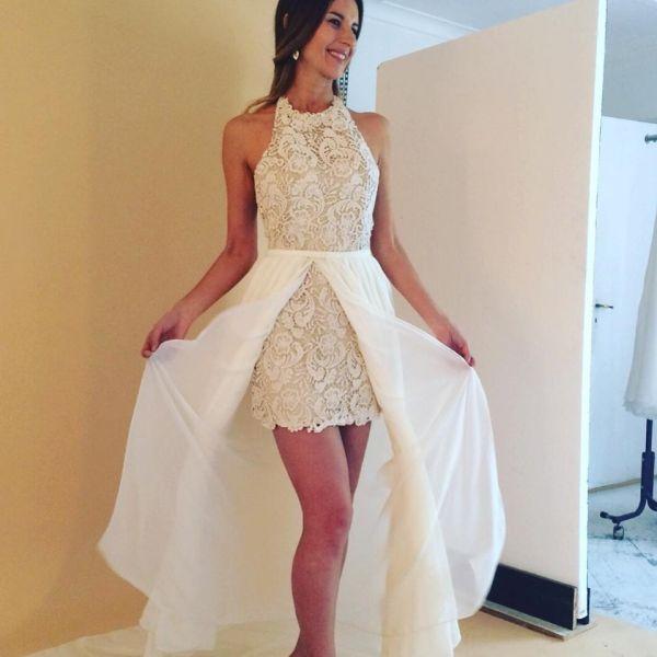Vestidos de novia civil corto