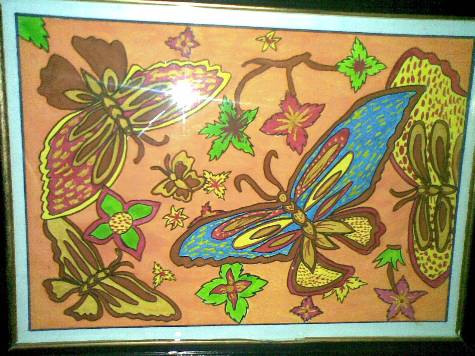 Karya Seni Rupa Desain Batik Menggunakan Cat Air