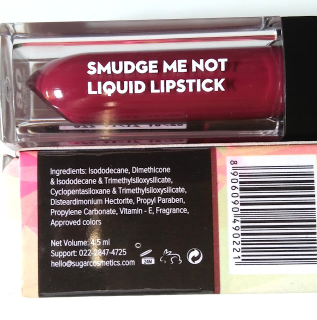 SUGAR Smudge Me Not Liquid Lipstick 08 Wine and Shine Review