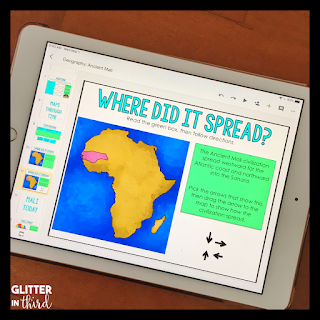 Image of Ancient Mali map on an iPad
