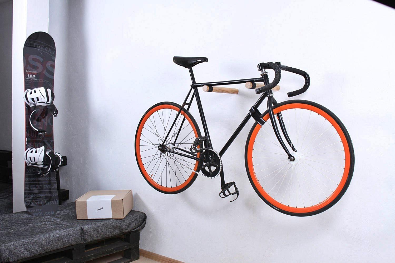 10 soportes para guardar la bicicleta en casa mtbymas - Fahrradhalterung wand holz ...