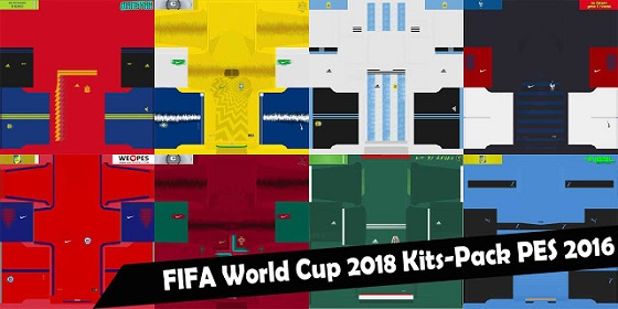 PES 2016 New Nations WC 2018 Kitpack 2018 Updated By Cesarvali