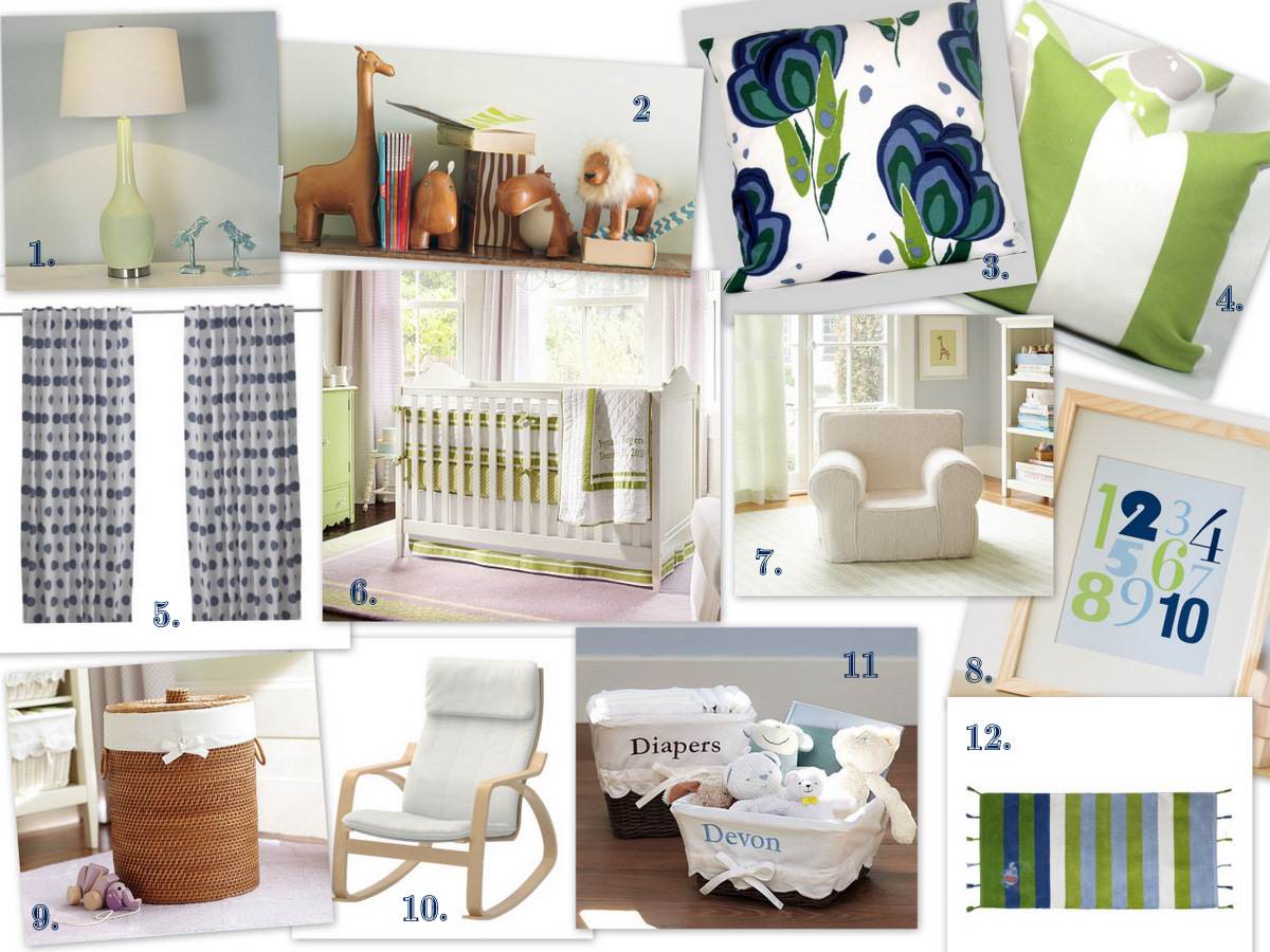 A Lived In Home Nursery Design Board