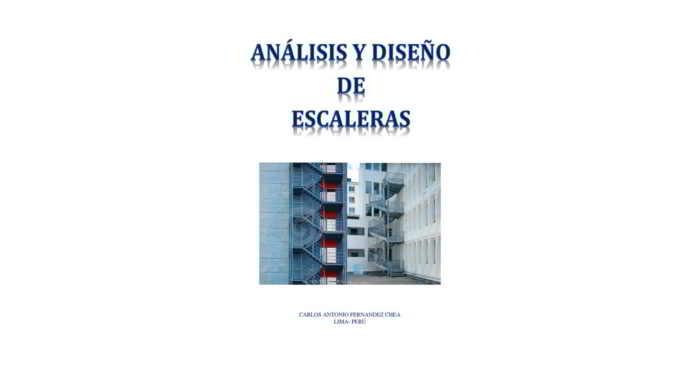 Descargar Análisis y Diseño de Escaleras - Carlos Fernandez Chea