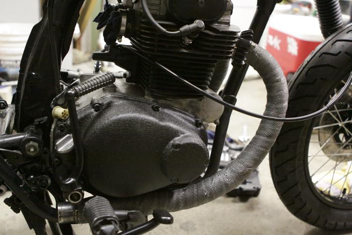 CB350 header wrap