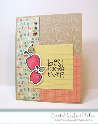 Best Teacher Ever card-designed by Lori Tecler/Inking Aloud-stamps and dies from Verve Stamps
