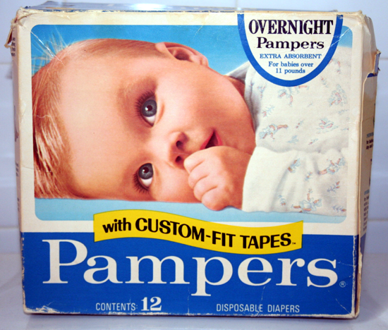 Pampers package 1971