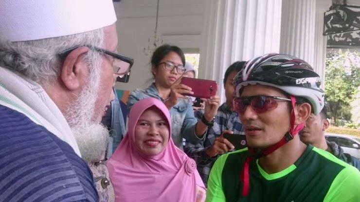Sandi Bersepeda ke Tanah Abang: Alhamdulillah Sudah Rapi dan Bersih