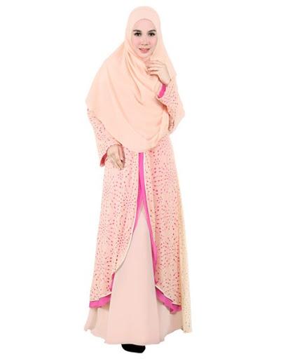 contoh desain model hijab syar i Pesta Terbaru