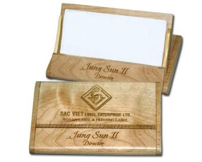 Ví đựng card visit bằng gỗ