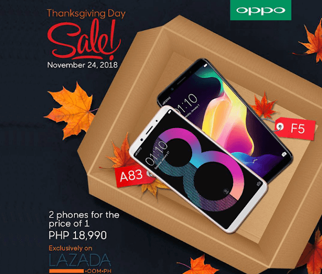 Promo Alert: Get both the OPPO F5 and OPPO A83 for only PHP 18,990