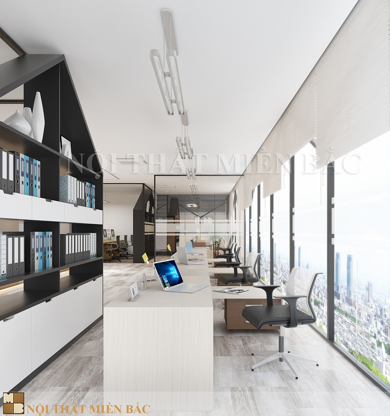 Tư vấn thiết kế phòng làm việc tận dụng mọi khoảng không gian