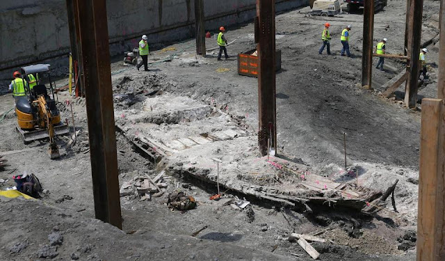 19th-century shipwreck found at Boston construction site