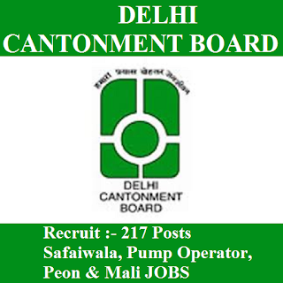 Delhi Cantonment Board, Ministry of defence, CB Delhi, freejobalert, Sarkari Naukri, CB Delhi Answer Key, Answer Key, cb delhi logo