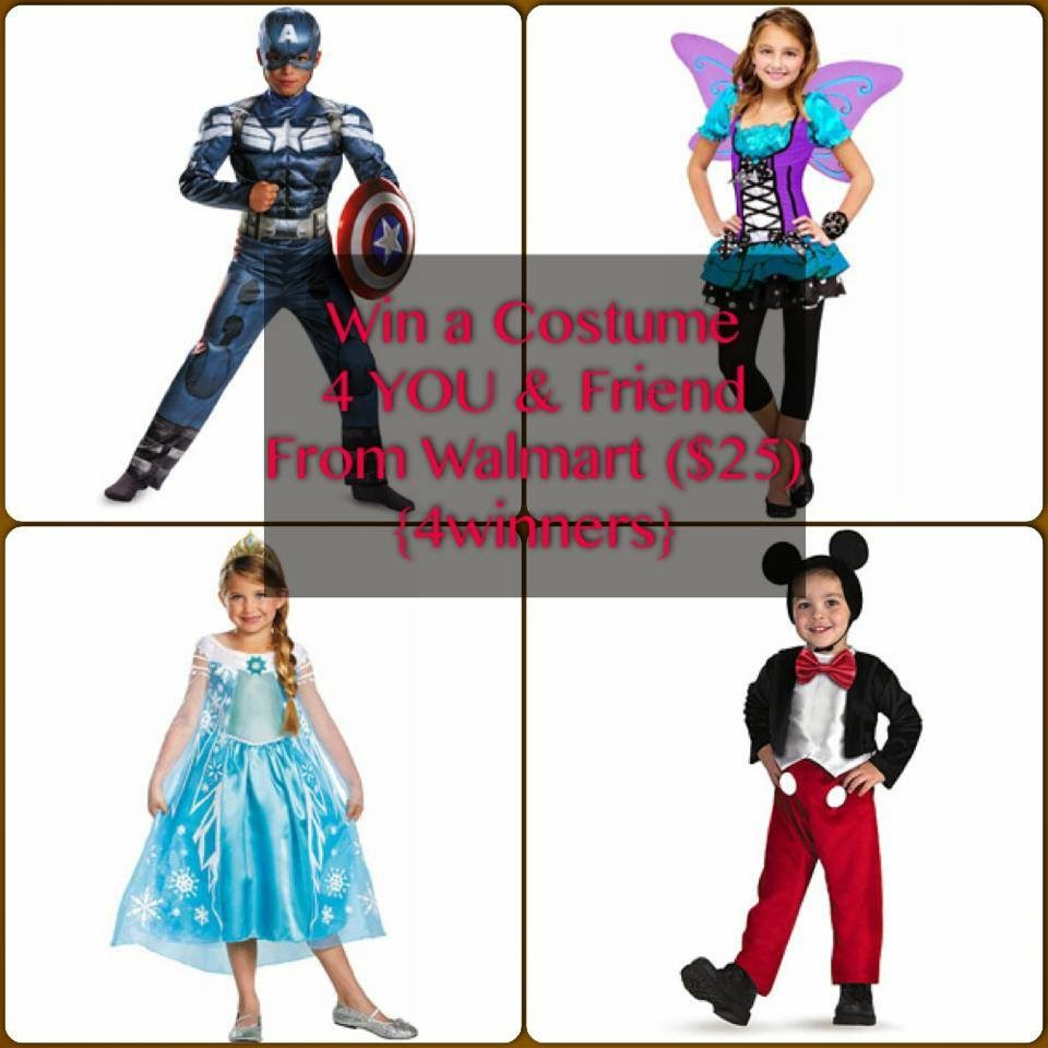 Enter to win Walmart gift cards in the Halloween Costume Giveaway. Ends 10/15.