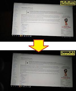 Perbedaan Sebelum dan Sesudah mengunakan fitur Night Light