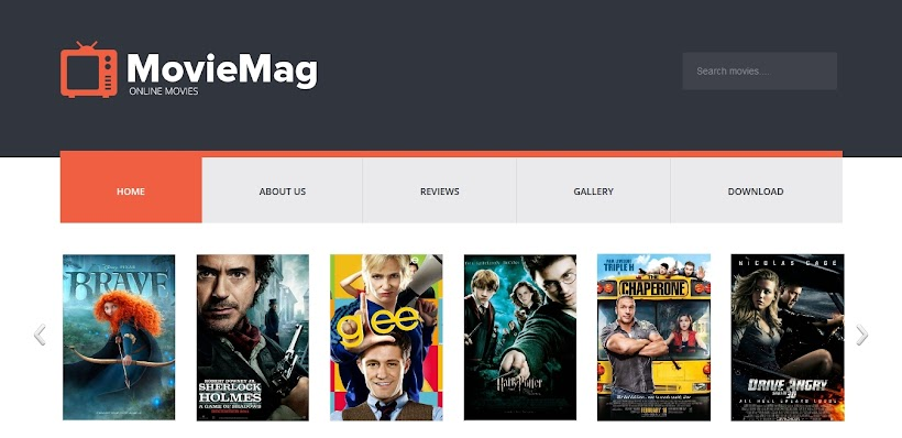 Movie Mag Free Blogger Template