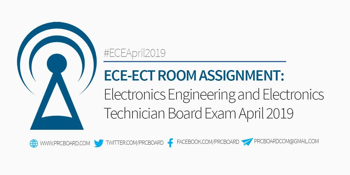 ECE Room Assignment – Electronics Engineer Board Exam April