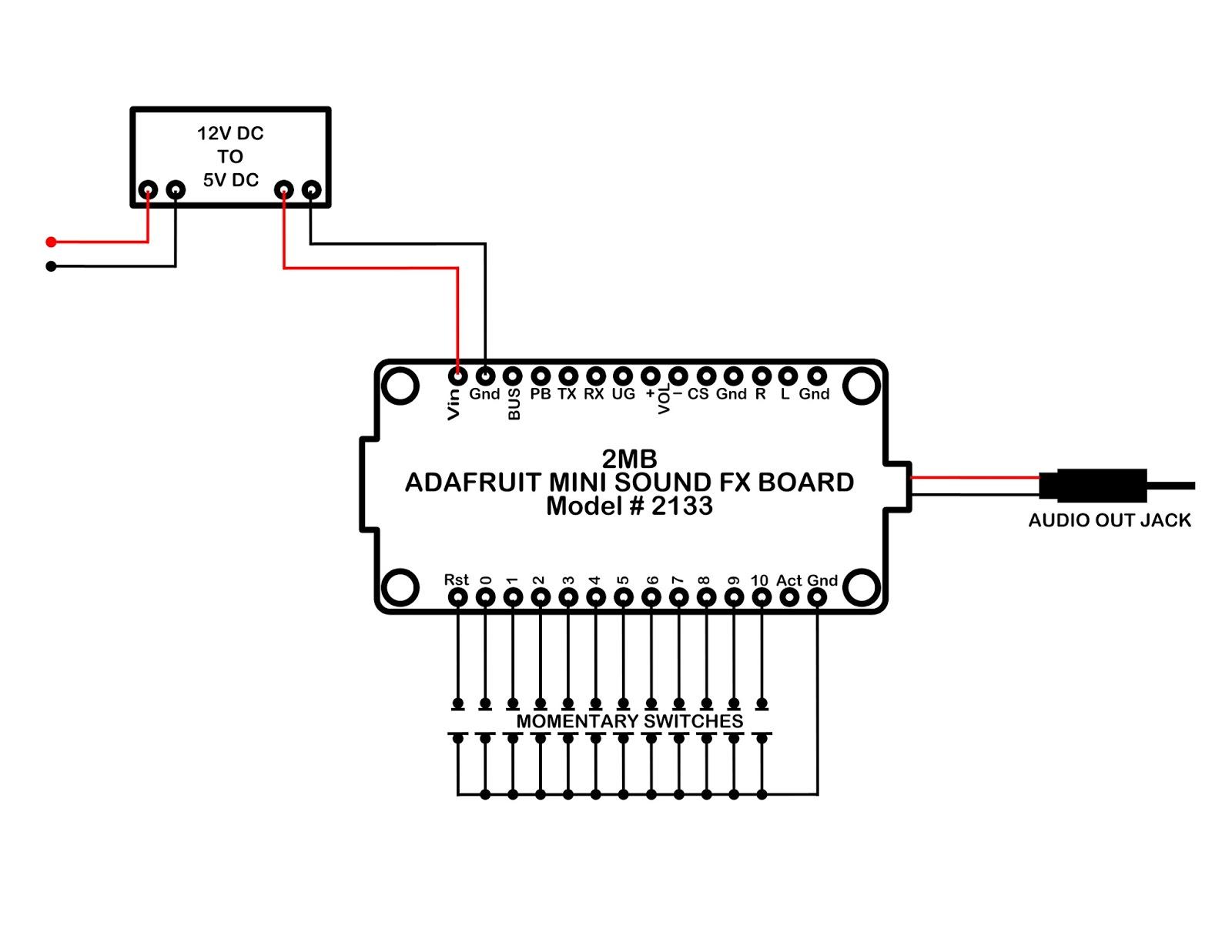 My Knight Rider 2000 Project  Adafruit Mini Sound Fx Board Wiring Diagram