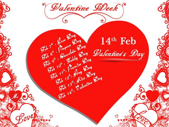 Valentine Week Days 2017 List