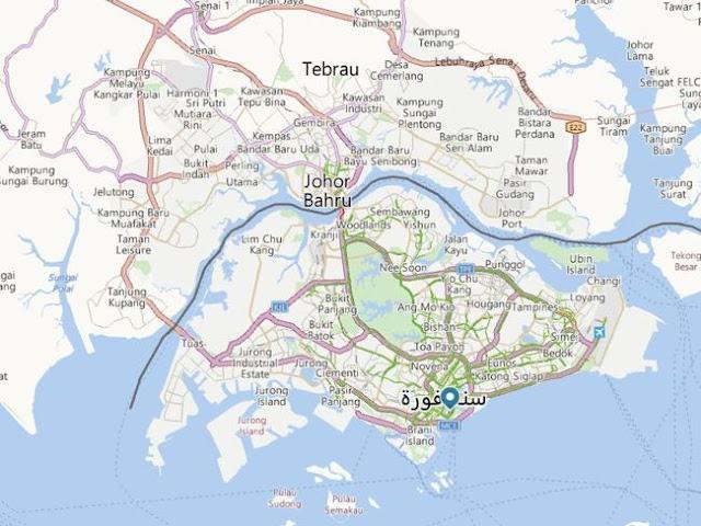 الخريطة إلى فندق مارينا باي ساندز فى سنغافورة Marina Bay Sands Singapore Hotel Map