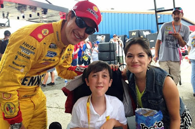 Joey Logano Forms Close Bond With Make-A-Wish Buddy