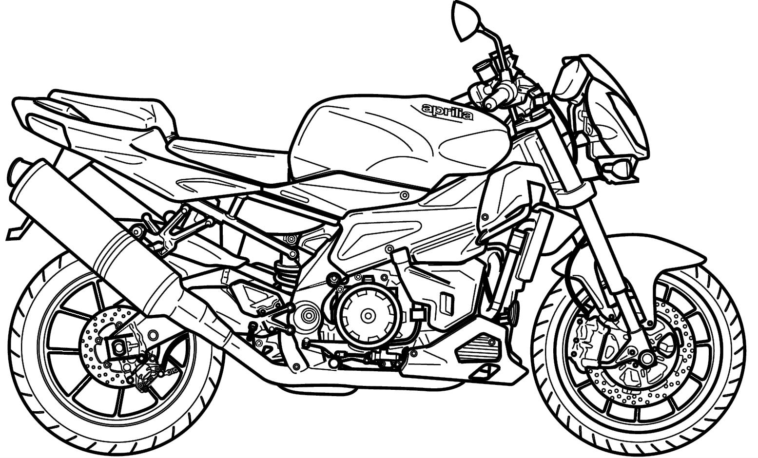 Colorir E Pintar Moto De Corrida Irada Para Aprender A Desenhar