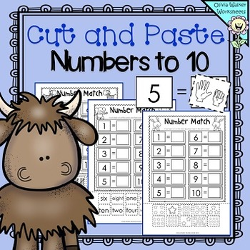 https://www.teacherspayteachers.com/Product/Matching-Numbers-to-Ten-Cut-and-Paste-Match-to-10-Worksheets-Printables-2050625