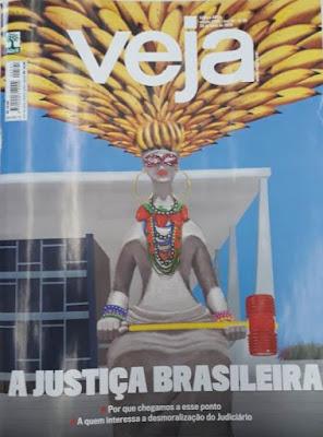 """Revista Veja  """"A Justiça Brasileira"""" na Banca Vanildo em Registro-SP"""