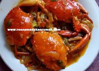 resep kepiting saus padang enak lezat sederhana